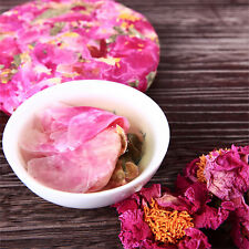 200g Natural Flower Tea Cake Blooming Peony Nectar Scented Chinese Herbal Tea 花茶