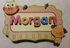 PERSONALISED BABY CHILDREN KIDS NAME PLAQUE BOARD NURSERY DECOR DOOR SIGN 3D