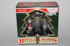 COCA COLA CHRISTMAS ORNAMENT, ELVES CLEANING GLASS OF COCA COLA, NEW IN BOX