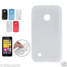 Custodia WAVE S Line per Nokia Lumia 530 RM-1019 Cover Morbida Gomma Gel Silicon