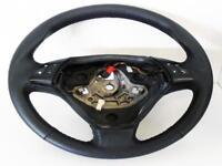 Fiat Grande punto copri volante in vera pelle nera