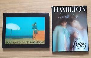 David Hamilton - 2 livres - L'album de Bilitis & Souvenirs