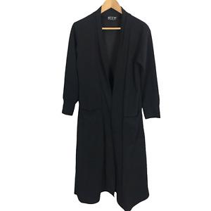Kit Clothing Womens Size M/L Black Long Sleeve Stretch Long Length Cardigan