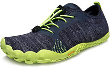 TSLA Men's Trail Running Shoes, Lightweight Athletic Zero Drop Barefoot Shoes