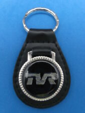 TVR AUTO CAR BLACK LEATHER KEYRING KEYFOB #214