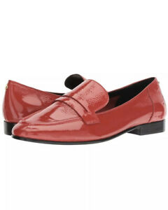 NEW Kate Spade Genevieve Loafers Maraschino Red Crinkle Patent Leather Shoes 8.5