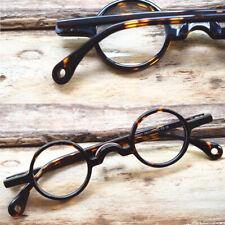 Vintage Small Round 34mm Eyeglass Frames Acetate Full Rim Hand Made Unisex
