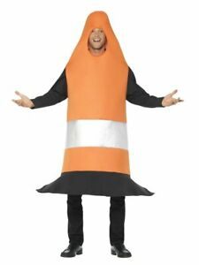 Traffic Cone Costume Joke Comedy Road Safety Orange Witches Hat Cars Dress Up