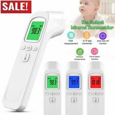 Digital LCD Infrarot Fieberthermometer Stirn & Ohr Kontaktlos Baby und Erwachsen