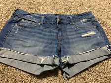 AE AMERICAN EAGLE SHORTIE WOMENS JEAN SHORTS SIZE 14