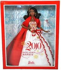 "Barbie Collector 2010 Holiday Barbie- African-American- 11"" Doll- FREE SHIPPING."