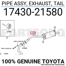 1743021580 Genuine Toyota PIPE ASSY, EXHAUST, TAIL 17430-21580