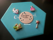 ORIGAMI OWL Fairytale CHARMS, Princess Dress , Wand, Frog, Plate