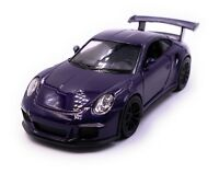 Porsche GT3 Rs Sports Car Model Car Car Purple Scale 1:3 4 (Licensed)