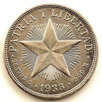 Suinthila-1 Peso 1933. EBC-/XF-. Plata 26,7 g.