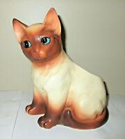 """Vtg Napcoware Siamese Cat Planter C7116  Blue Eyes Napco Japan 7.5"""" Ceramic"""