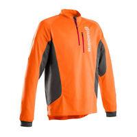 Husqvarna Technical Long Sleeve Work T-Shirt Quick Drying Lightweight Zip Shirt
