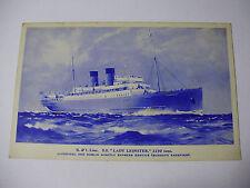 E221 - BRITISH & IRISH LINE - SS LADY LEINSTER Postcard