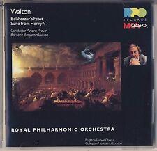Walton - Previn, Luxon, Royal PO : Belshazzar's Feast, Henry V (MCA) Like New