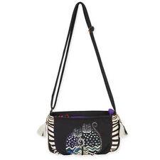 "Laurel Burch ""Polka Dot Gato"" #LB5552 C Cat Artistic Mini Crossbody Hand Bag NEW"
