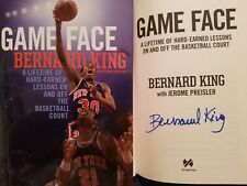 BERNARD KING SIGNED book Game Face Lessons On and Off The Basketball Court AUTO