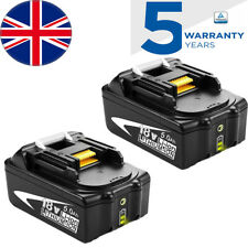 2x 18V 5.0AH Battery for Makita BL1860B BL1850B BL1840B BL1830B LED Indicator
