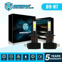 IRONWALLS H7 LED Headlight Bulb Kit 2200W 330000LM High/Low Beam 6000K Whtie 2X