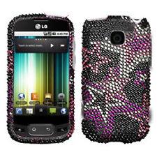 LG Optimus T P509 Phoenix Thrive Bling Diamond Hard Case Phone Cover Super Star