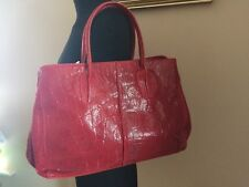 RED LEATHER Bag by COLLEZIONE ALESSANDRO SNAKESKIN