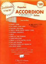 Popular Accordion Solos #89 Easy-to-Play Honky Tonk Rich People of Brooklyn