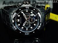 Invicta 48mm Men's PRO DIVER SCUBA Chronograph COMBAT Triple Black SS Watch