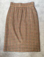 ESCADA Womens 36/6 HOUNDSTOOTH PLAID BROWN~ RUST Vintage 80's Pencil Skirt NWOT