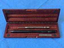 Porsche Design Pen Titanium Ballpoint Blue Ink 41021 in Rosewood Box