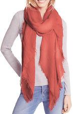 MARKS & SPENCER COLLECTION Coral Chenille Striped Scarf T01/6337T BNWT