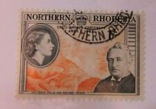 Northern Rhodesia  SC #58 CECIL RHODES CENTENARY Victoria Falls used stamp