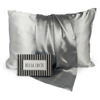 100% Pure Mulberry Silk Pillowcase, Luxurious 22 Momme 2 colors By Bella Lucie