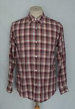 Vintage Issey Miyake Design Studio Plaid Rayon/ Poly Button Front Men's Shirt M