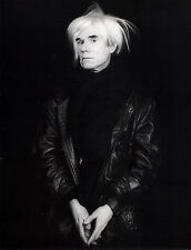 "1986 'ANDY WARHOL' photo art by ROBERT MAPPLETHORPE--14""X11"" pop art"