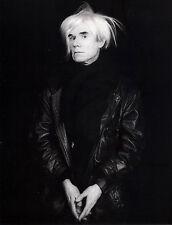 "1986 'ANDY WARHOL' photo art by ROBERT MAPPLETHORPE--14""X11"" pop art"