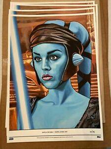 "2020 Topps Star Wars Living Set Fine Art Print Aayla Secura Jedi #""d/95 Sith"