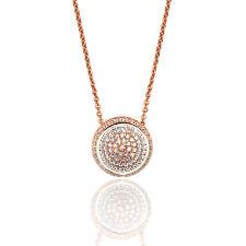 Plata De Ley Diseño 'Silver & Co' Chapado En Oro Rosa Puesto Pavé