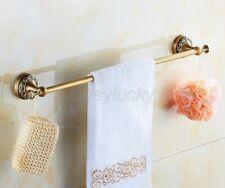 Antique Brass Wall Mounted Bathroom Single Towel Bar Rack Holder wba482
