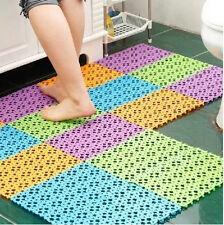 Practical Nice Plastic Non-slip Shower Bathroom Bath Mosaic Mat Us