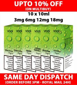 10 x 10ml VADO E Liquid Premium Vape Juice 50VG 50PG 3mg 6mg 12mg 18mg TPD
