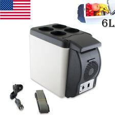 USA Electronic 6L Portable Cooler Warmer Car Fridge Travel Vehicle Refrigerator