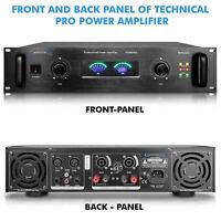 New Technical Pro 6500 Watt Professional 2 Ch Power Amplifier w Dual Cooling fan