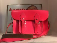 The Cambridge Satchel Company Pink Leather Bag With Buckles