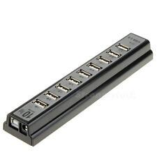 New High Speed 10 Port USB 2.0 Hub Multi Outlet Power Strip Type SHS STGG
