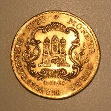 Goldmünze Hamburgensis Moneta Aurea 1772