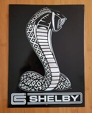 METAL SHELBY COBRA DECOR plaque display snake logo emblem auto car muscle model